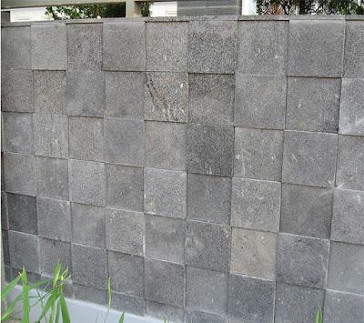 design pagar baru simen terlihat batu alami tukang
