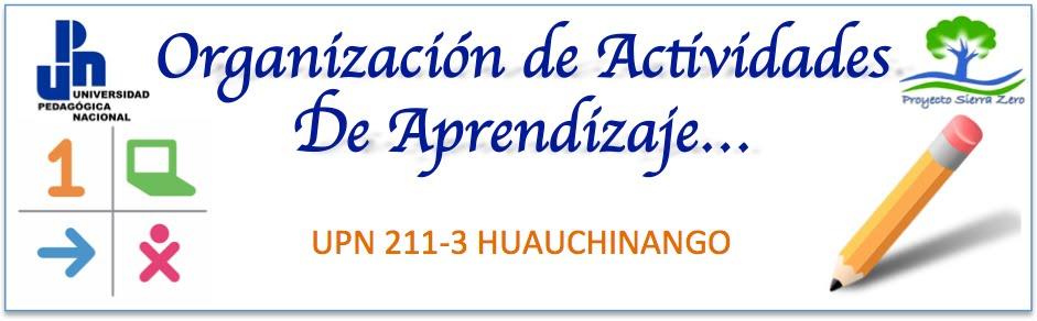 ORGANIZACION DE ACTIVIDADES PARA EL APRENDIZAJE