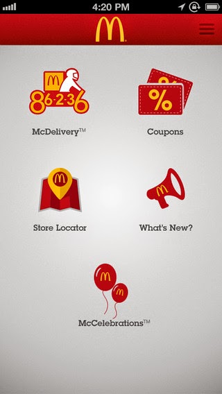 McDonald's Philippines Mobile App for Adroid and iOS Devices