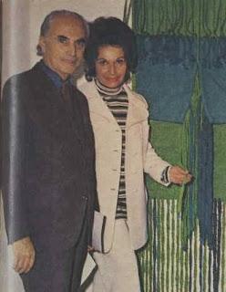 Siegfried Hessing en zijn vrouw de naïeve schilder Perle Hessing, geboren Hirsch - in mei 1971 in Australië
