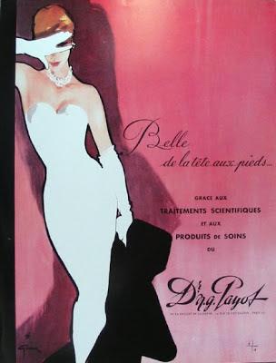 rené gruau payot cosmetique vintage publicité vanessa lekpa