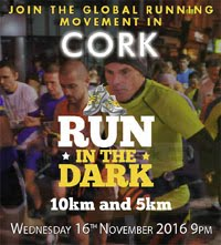 5k & 10k around the streets of Cork City at night...Wed 16th Nov 2016