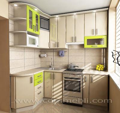 Маленька кухня з оптимальним набором