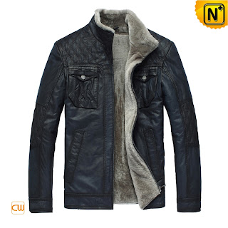Warm Blue Fur Jacket for Men