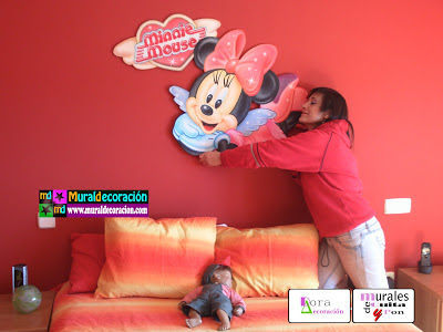 Minnie Mouse Mural Móvil