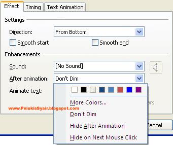 Cara Mengolah Animasi di PowerPoint 2007 agar terlihat menarik
