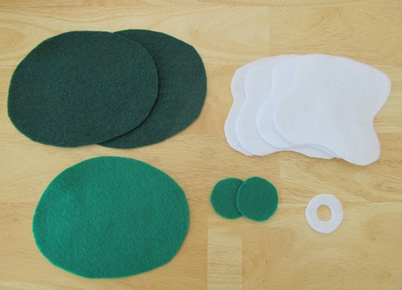 Place Pieces On Top Of Each Other Making 2 Green Eggs And 1 Slice Ham