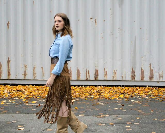 fringe skirt for fall