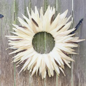 Fall Project: Corn Husk Wreath