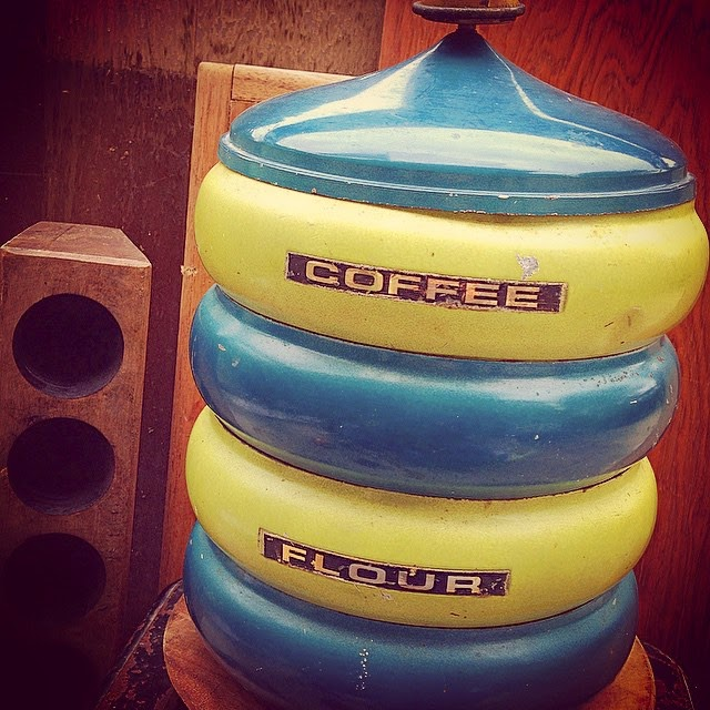 #thriftscorethursday Week 40 | Instagram user: aninspirednest shows off this Vintage Metal Canisters
