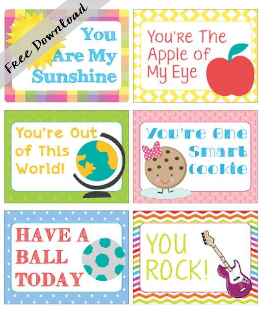 Instant Download - Lunch Box Notes
