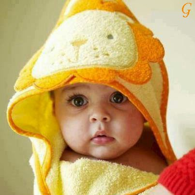 Cute Baby Yellow Dress Cute Baby With Yellow Cap Kids