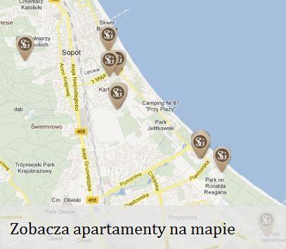 Mapa apartamentów