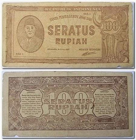 Uang Kertas 100 Rupiah 1947