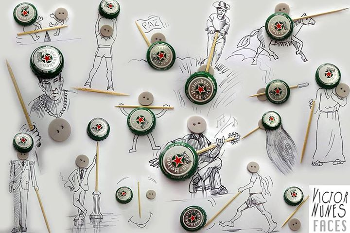 01-Bottle-Caps-Victor-Nunes-The-Art-of-Making-and-Drawing-Faces-using-Everything-www-designstack-co