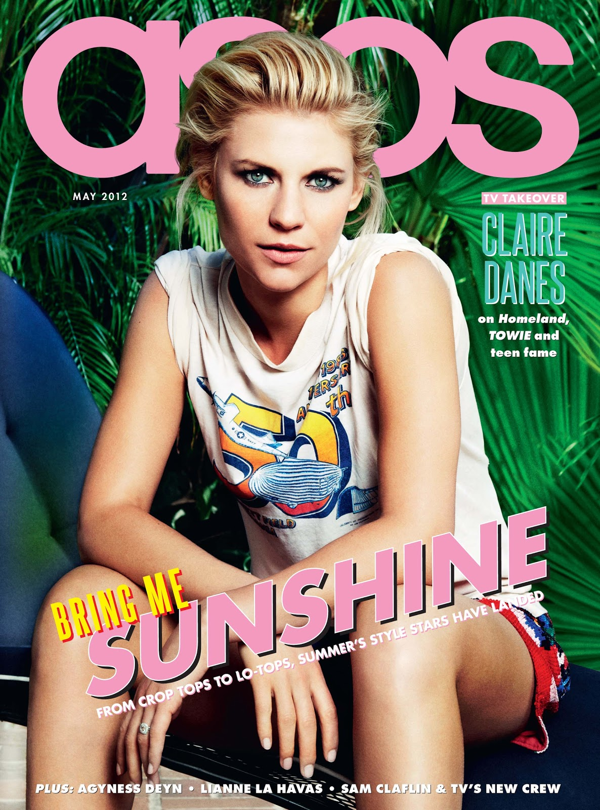 ASOS Magazine May 2012: Claire Danes by Danielle Levitt