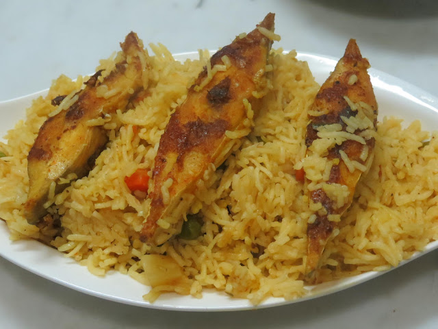 mittu cooking love: Fish Pulao / Pilaf