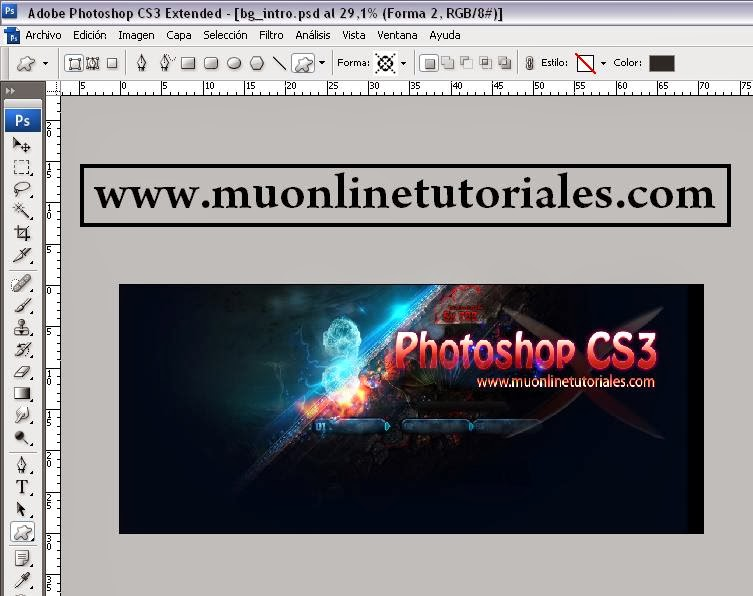Editando la intro con photoshop