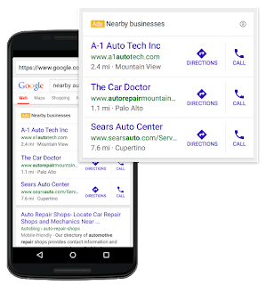 جوجل تطور من شكل الاعلانات للانشطة التجارية القريبة منك