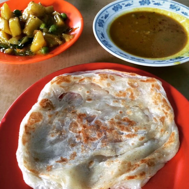 Roti Prata in Little India, Singapore