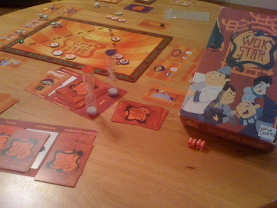 Wok Star board game in play