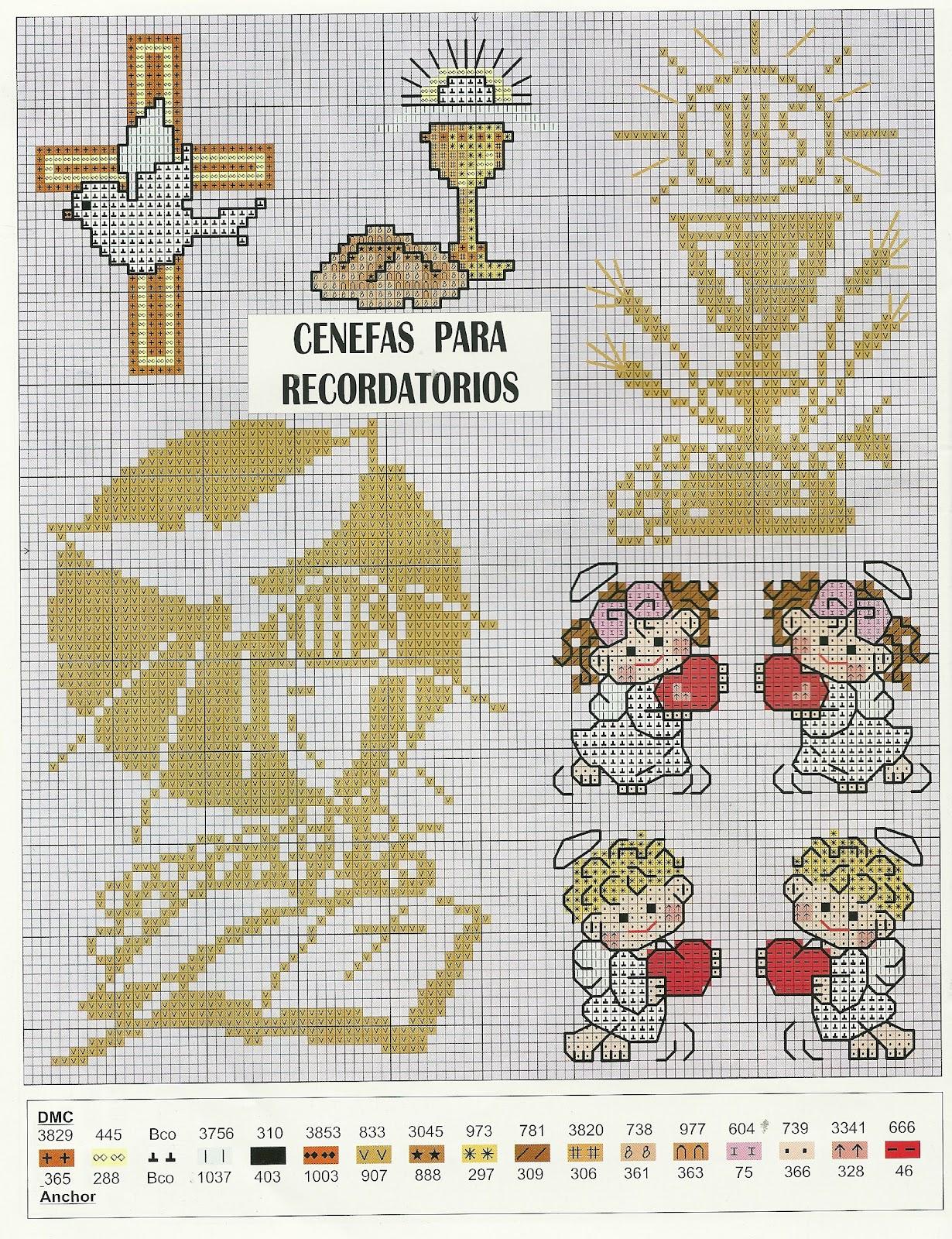 Muestras de punto de cruz para servilletas para bautizo - Muestras y motivos punto de cruz ...