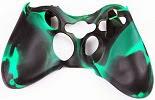 Image: Factop xbox360 Controller Black Green Camo Silicone Case Cover Skin
