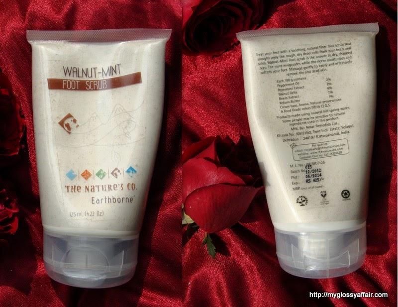 The Nature's Co. Walnut Mint Foot Scrub Review