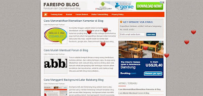 Cara Membuat Efek Love Berjatuhan di Blog