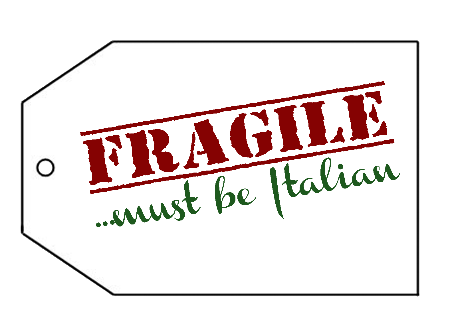 "The Craft Patch: ""Fragile"" Gift Tag Free Printable"