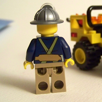 LEGO miner back
