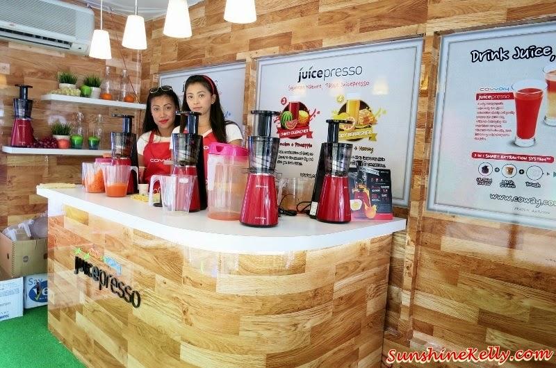 Coway Juicepresso Slow Juicer, Coway Juicepresso Truck Roadshow