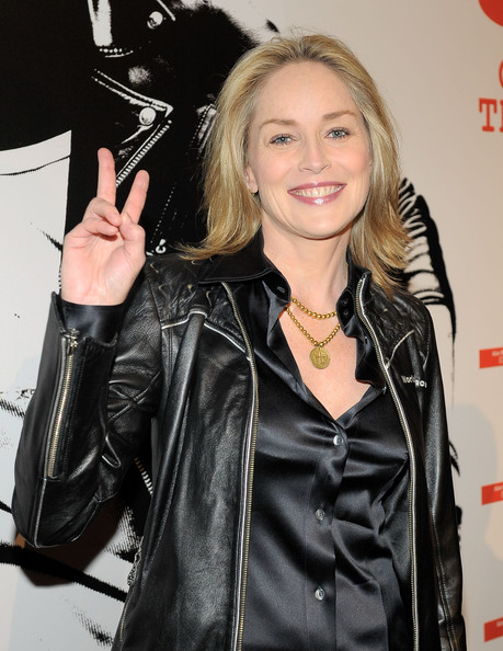 Connect In Celebrity Blogs: sharon stone - black satin blouse ...