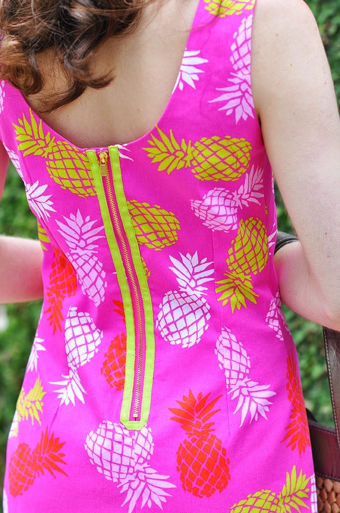 Macbeth Collection by Margaret Josephs pineapple print dress