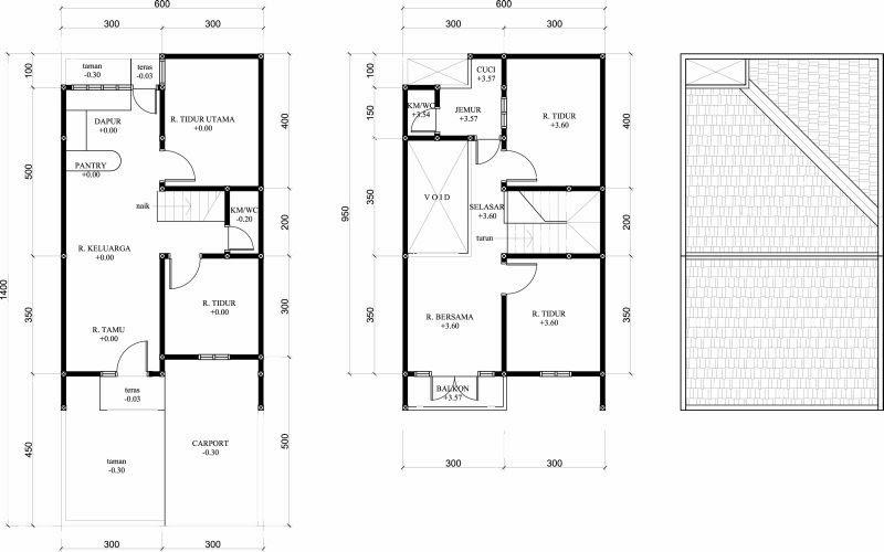 renovasi rumah type 36 menjadi 2 lantai desain denah