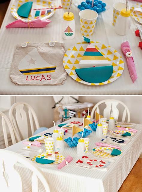 Cumpleaños infantiles con decoración marinera