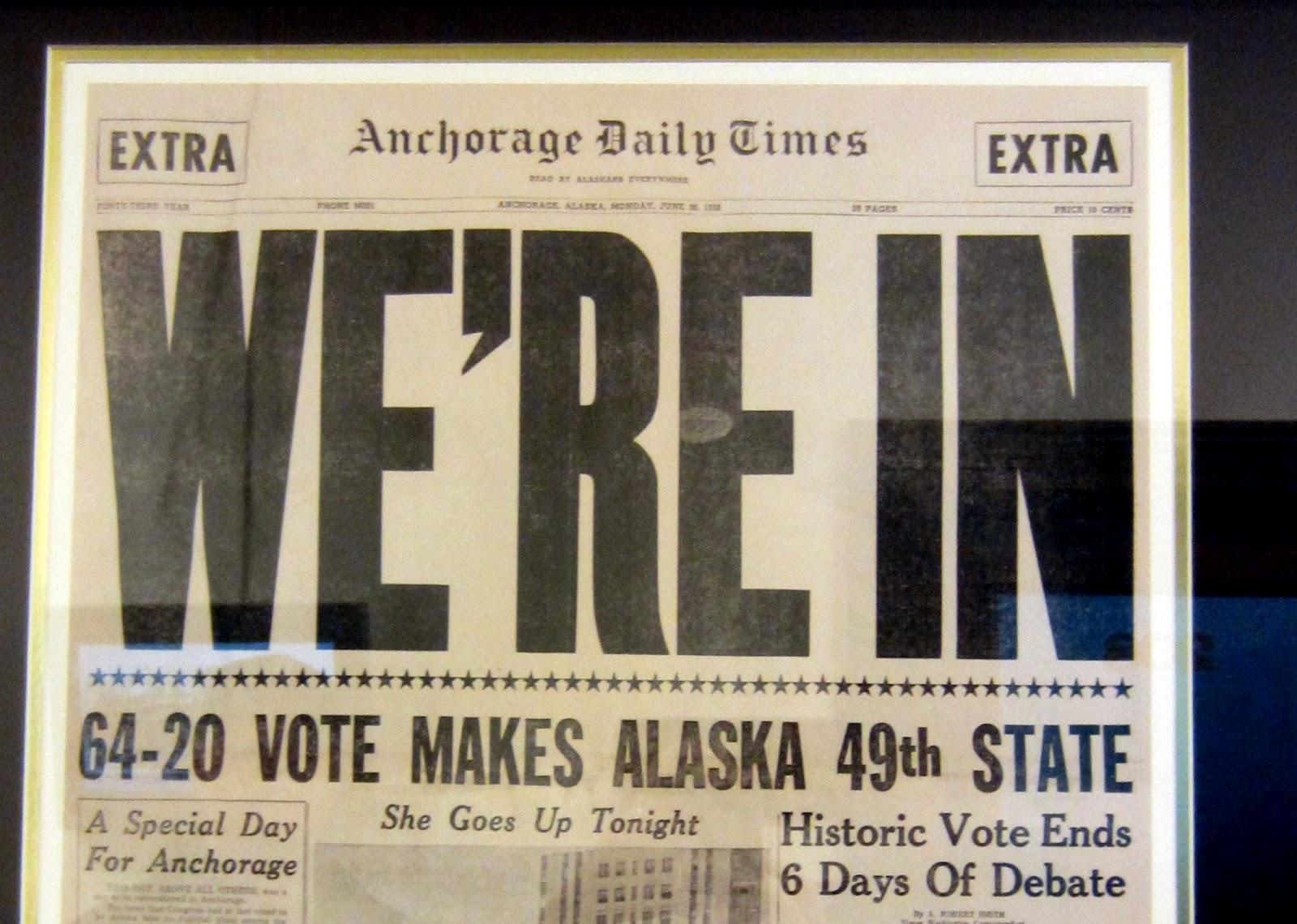 Alaska statehood date