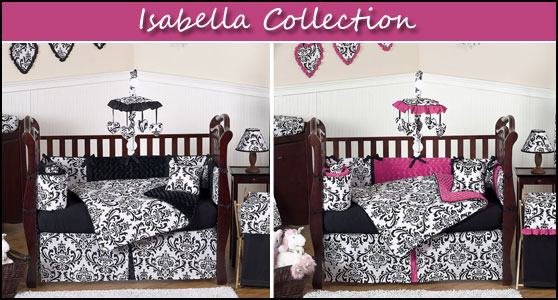 Isabella Damask Baby Bedding