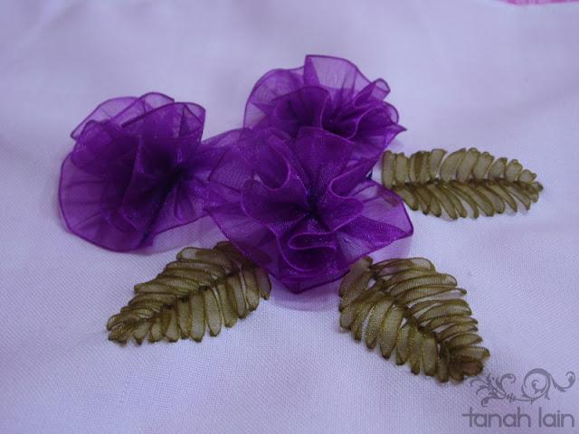 Flores Bordadas con Listón
