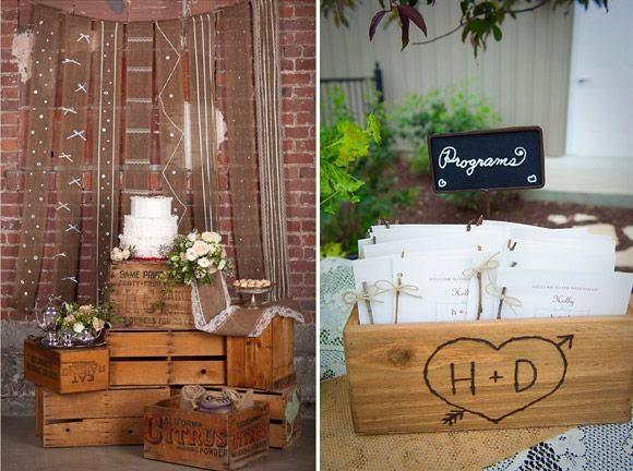 Bodas cucas cajas de madera para decorar tu boda - Cajas de madera para decorar ...