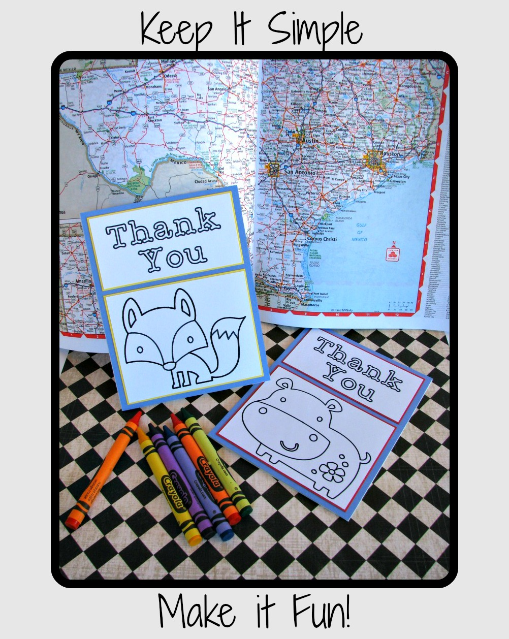 Color Me Thankful Cards