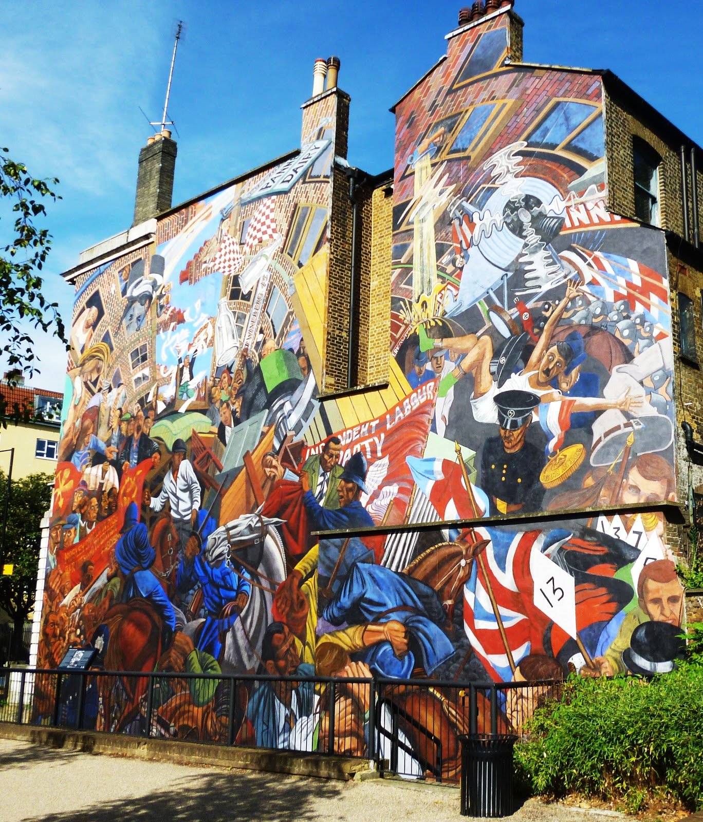 Dr tony shaw the battle of cable street mural east end for Cable street mural