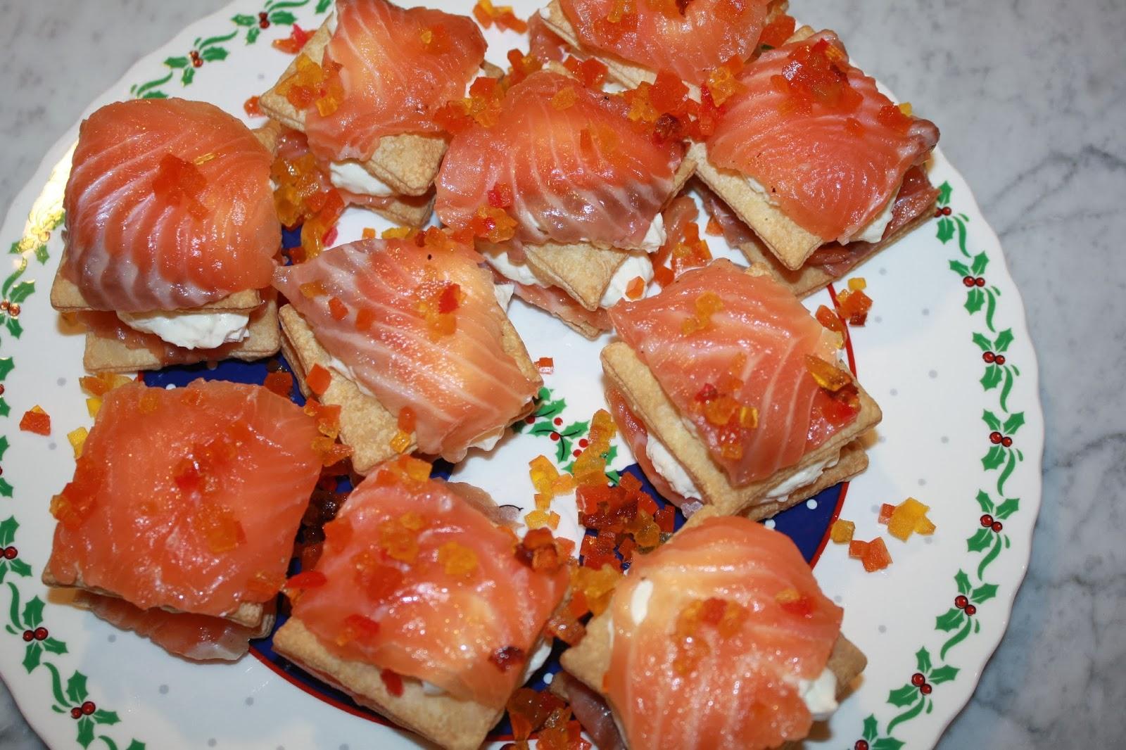 antipasto millefoglie salmone