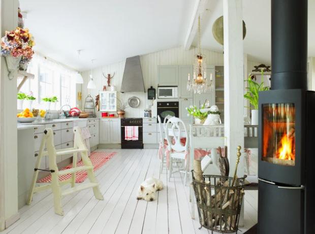 Gezelligheid Keuken : Scandinavian Cottage Style Kitchen