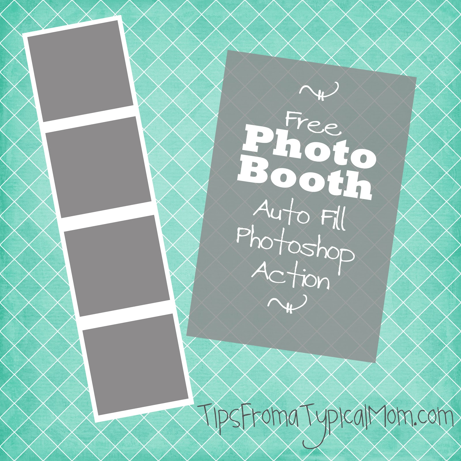 FREE Photo Booth Frame Template Auto Fill Photoshop Action - Tips ...