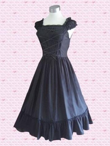 Vintage Black Classic Lolita Dress