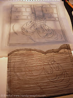 lino tracing and lino penned