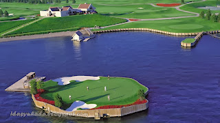 Padang Golf Terapung Di Coeur d'Alene Resort