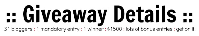 $1500 VISA Gift Card Giveaway