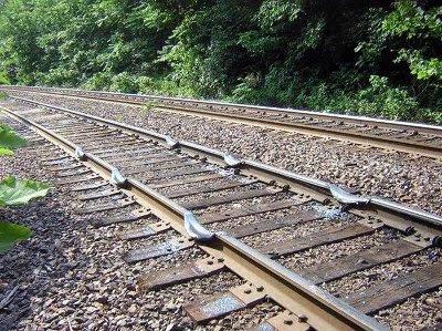 すり減った線路